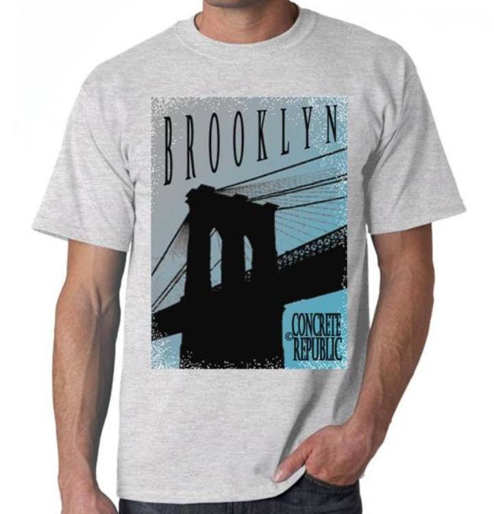 48a43713 Mens Brooklyn Bridge Tshirt 'Twilight' graphic tee, Urban, Brooklyn New  York-black tee, sport gray, white tee (Sizes Sm-4XL)