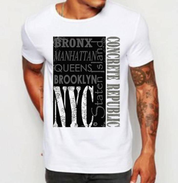 Mens New York Tee-The Block-NYC-New York City-Trendy Urban Hip Hop Graphic  Tee-Custom white tshirts (sizes Sm-4XL) 7651dd040f7