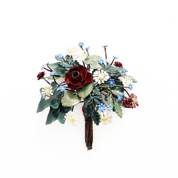 Antique French Flower Bouquet A Delicate Unique And Extremely
