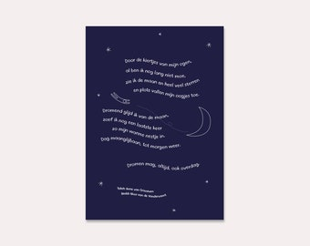 A5 Poem Card #2 i.c.w. Mam-An (illustrated card with poem in Dutch, especially for during pregnancy or as a maternity gift)