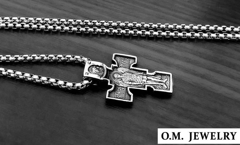 dbae373d8c3 Christian Orthodox Crucifix Jesus Saint Michael Russian Cross | Etsy