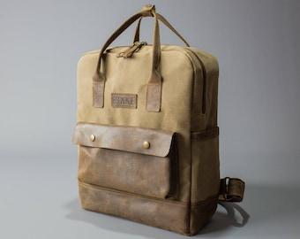 Canvas Backpack / Waxed Canvas Bag / Backpack / Rucksack / Canvas Rucksack / Backpack Men / Large Backpack / Canvas Bag / Laptop Backpack.