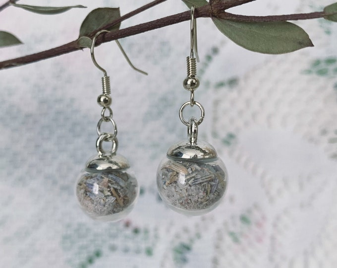 Botanical Pink Witch Floral Salt Globe Earrings