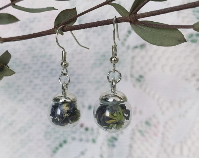 Botanical Globe Earrings [ I ]