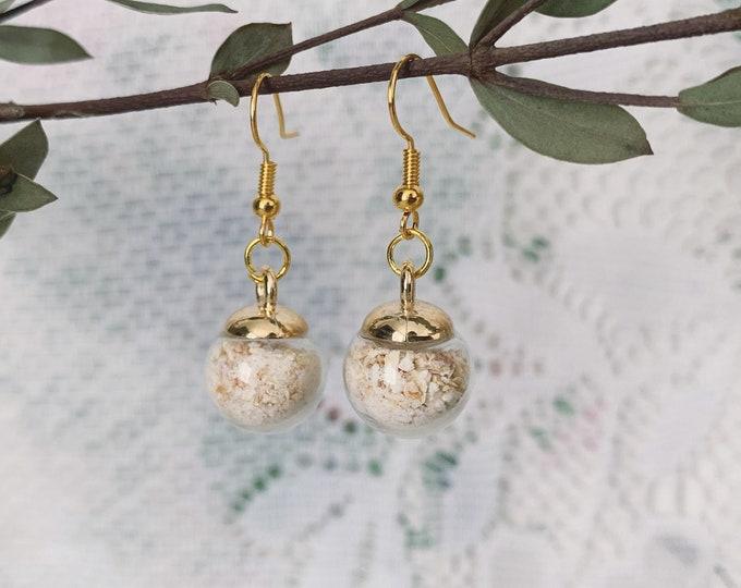 Botanical Solar Witch Salt Globe Earrings