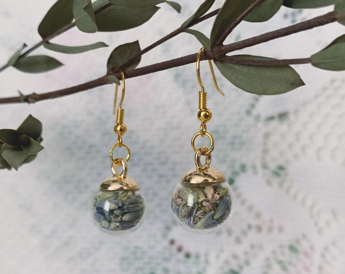 Botanical Globe Earrings [ II+ ]