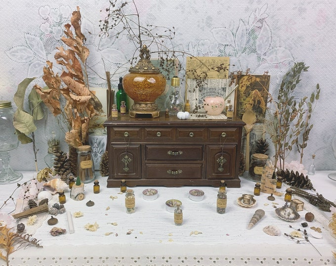 Master Apothecary Witch Altar // Cabinet Edition