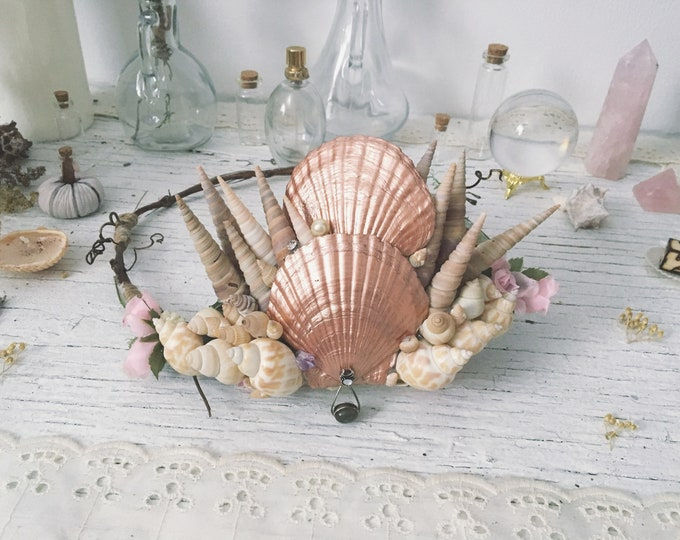Artisan Mermaid Seashell Crown