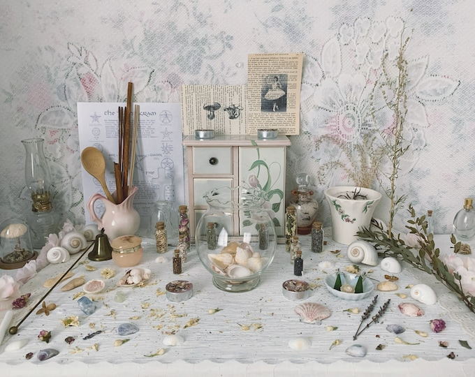 Apothecary Witch Altar // Cottage Edition