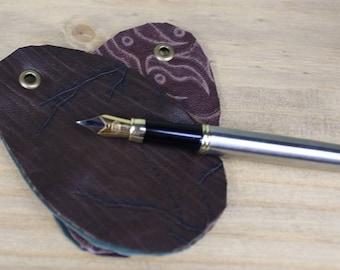 Fountain pen nib cleaners - leather nib cloths - pen cleaner - Handmade in Scotland