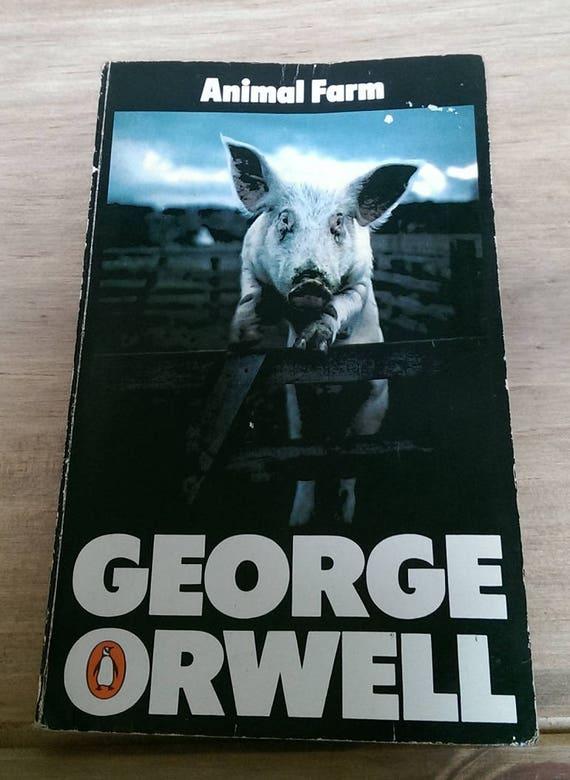1977 Edition Animal Farm George Orwell A Vintage Penguin Etsy
