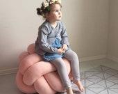 Large XL knot Floor Cushion, Knot Floor Pillow pouf, Modern pouf, pouf ottoman, pouf, floor cushion, floor pillow, sit cushion pillow