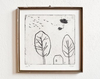 uncertain place 35 · original etching on paper · handmade and signed · limited