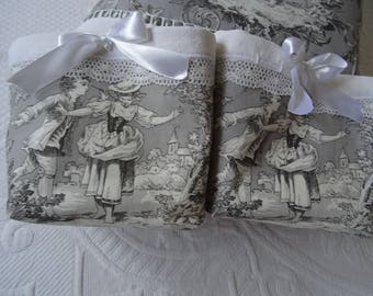 """fabric pouch """"colin Macdonald"""" and 6 napkins"""