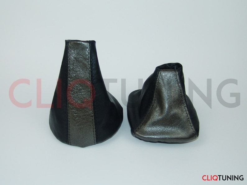 1ab0b00bf271a Dark silver leather shift boot and ebrake boot for bmw e36 / e46 (1992-2005  3rd series)