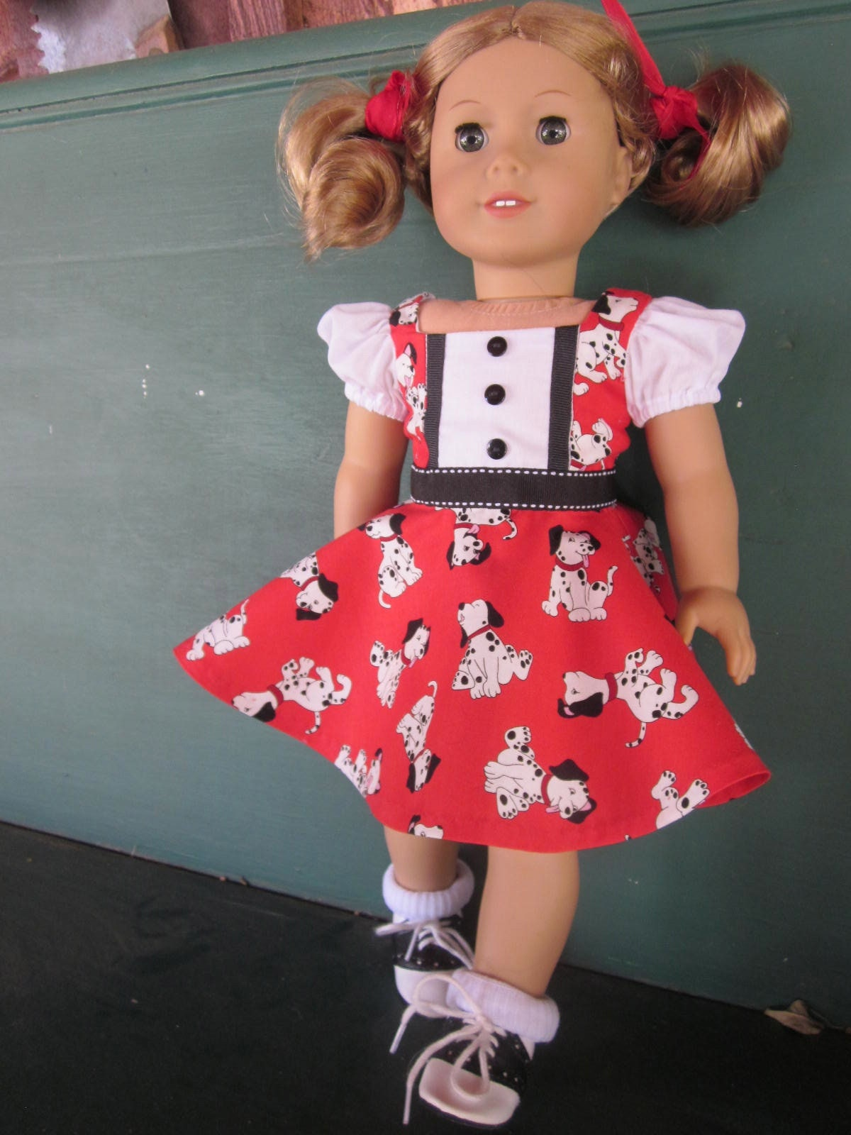18 1950 s Doll Dress Retro Circle Skirt Dalmatian  2e11af560