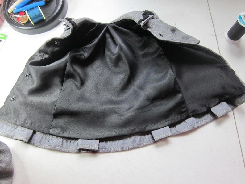 Vintage Czek Glass Buttons Early 20th Century Dolls 18 Edwardian Era Doll Coat /& Hat Grey With Black Satin Lining Rebecca AG Samantha