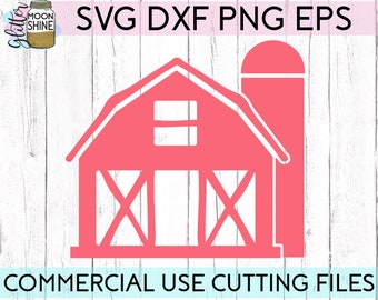 Barn svg dxf eps png Files for Cutting Machines Cameo Cricut, Farm, Farmhouse, Girly, Cute, Southern, Rustic, Mama, Country, Distressed, Cow