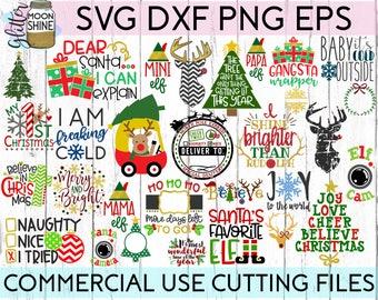 HUGE Christmas Bundle svg dxf png eps Files for Cutting Machines Cameo Cricut, Santa, Reindeer, Tree, Holidays, Elf, Cute, Girly, Kids