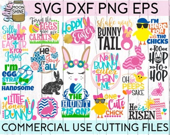 HUGE Easter Bundle of 19 svg eps dxf png Files for Cutting Machines Cameo Cricut, Blessed, Bunny Rabbit, Christian Jesus, Egg Hunt, Chicks