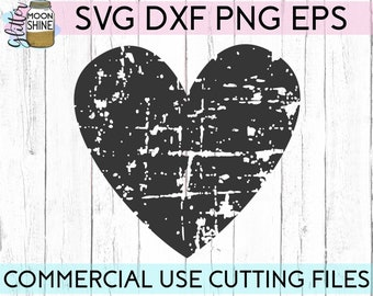 Distressed Heart Svg Etsy
