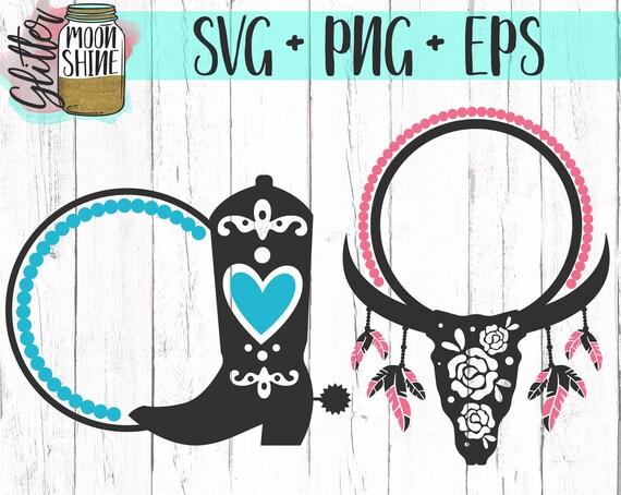 Southern Monogram Frame Bundle Set Svg Eps Png Files For Etsy