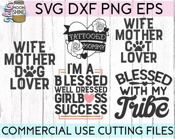 Mom Life Bundle Of 20 Svg Eps Dxf Png Files For Cutting Etsy