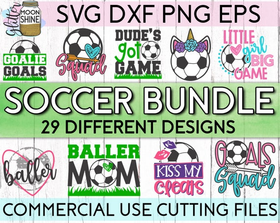 Soccer Star Bundle Of 29 Svg Eps Dxf Png Files For Cutting Etsy