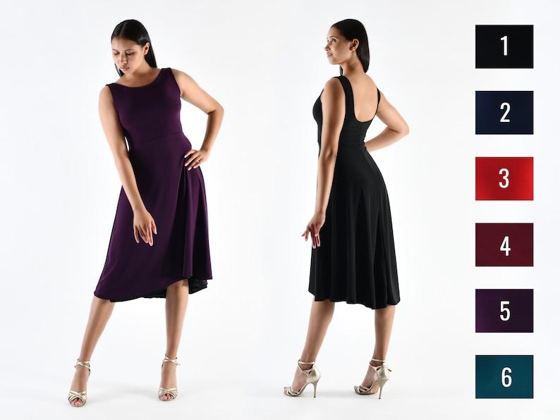 DI SARLI Reversible Tango Dress Empire Waist  Black and Your image 0