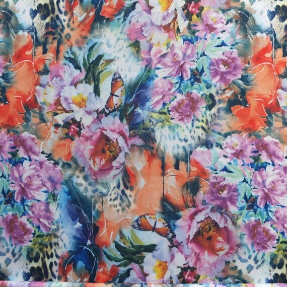 flowers Skirt LAST D Asymmetric ARIENZO and Butterflies B7nYqxH