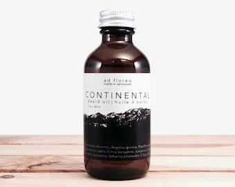 Beard Oil: CONTINENTAL - cedar bergamot beard oil, citrus beard care oil, natural beard care products, natural beard and cologne oil