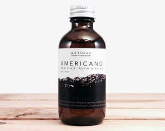 Beard Oil: AMERICANO - coffee scented beard oil for men, naturally scented with coffee essential oil, beards and coffee best beard oil