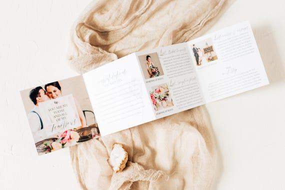 Sehr Geehrte Magnolia Preise Akkordeon Vorlage Hochzeit Etsy