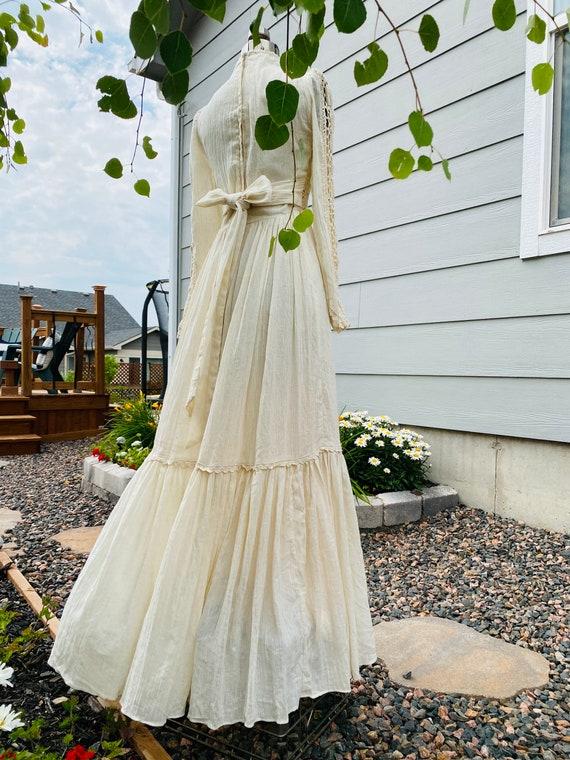 Gunne Sax Corset prairie Dress Vintage 1970's - image 5