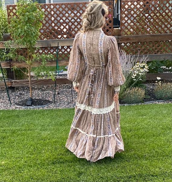 Vintage Gunne Sax Paisley Cottagecore dress - image 3
