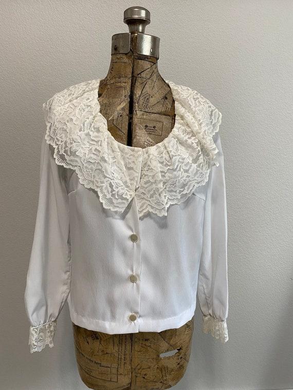 Vintage Edwardian White Blouse