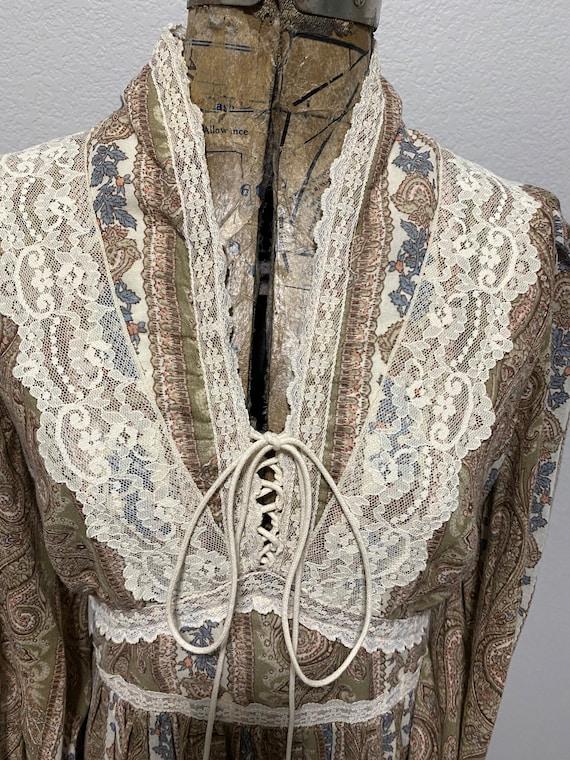 Vintage Gunne Sax Paisley Cottagecore dress - image 7