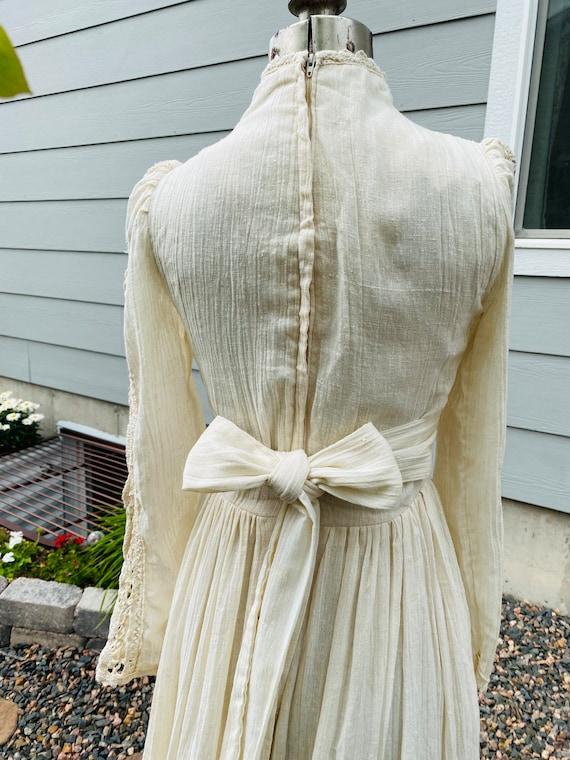 Gunne Sax Corset prairie Dress Vintage 1970's - image 6