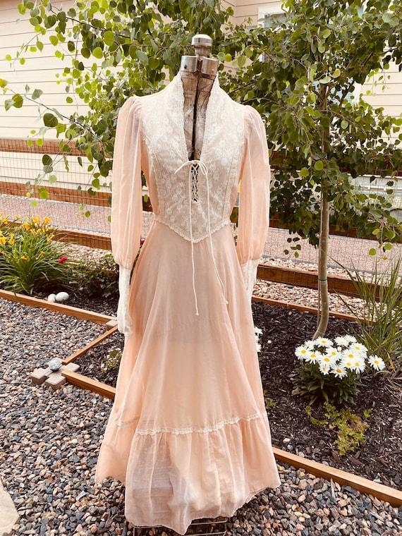 Gunne Sax Prairie Dress 1970's - image 2
