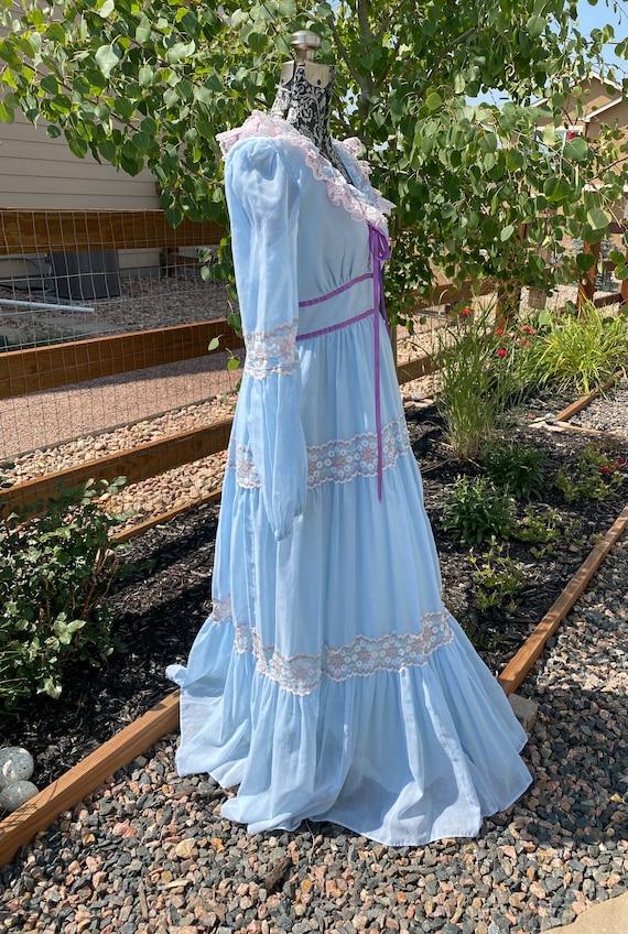 Vintage Gunne Sax Corset Maxi Dress - image 3