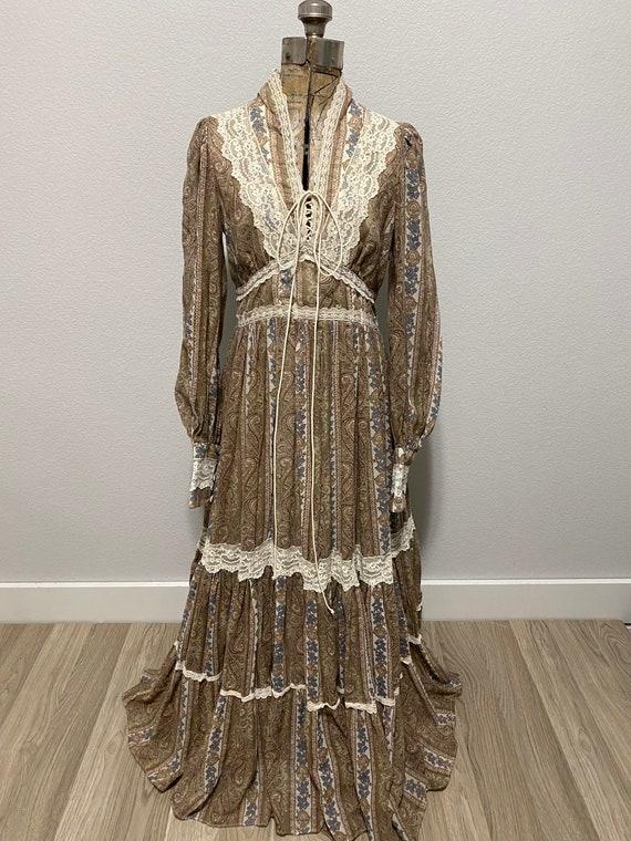 Vintage Gunne Sax Paisley Cottagecore dress - image 5