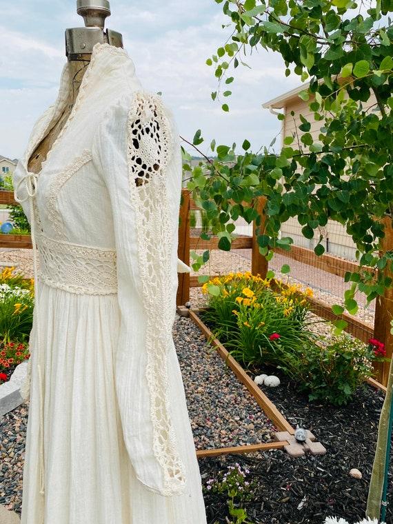 Gunne Sax Corset prairie Dress Vintage 1970's - image 3