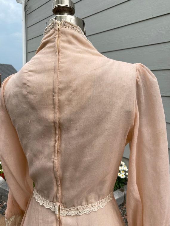 Gunne Sax Prairie Dress 1970's - image 9