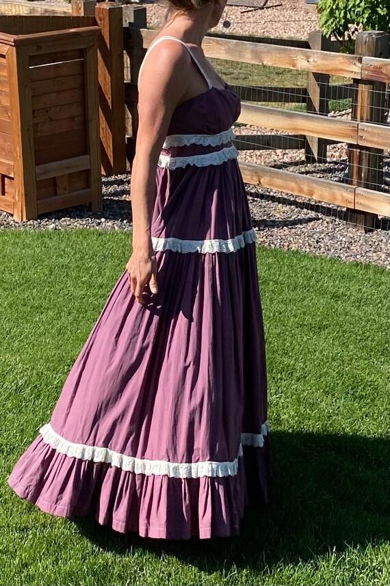Vintage Handmade Prairie Dress Gunne Sax Style
