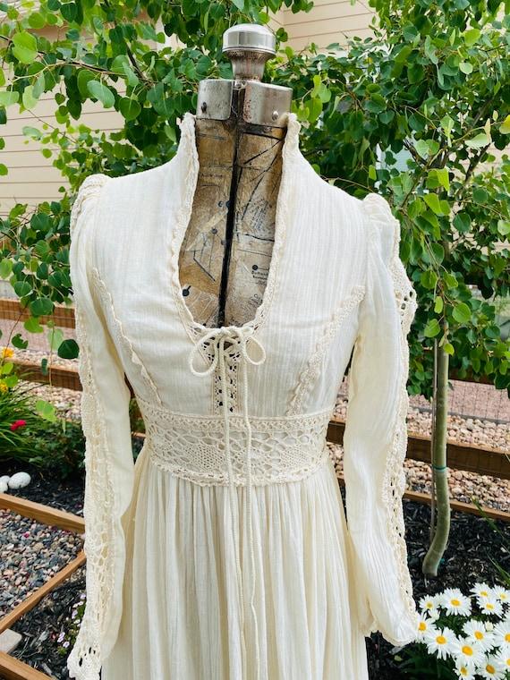 Gunne Sax Corset prairie Dress Vintage 1970's - image 2