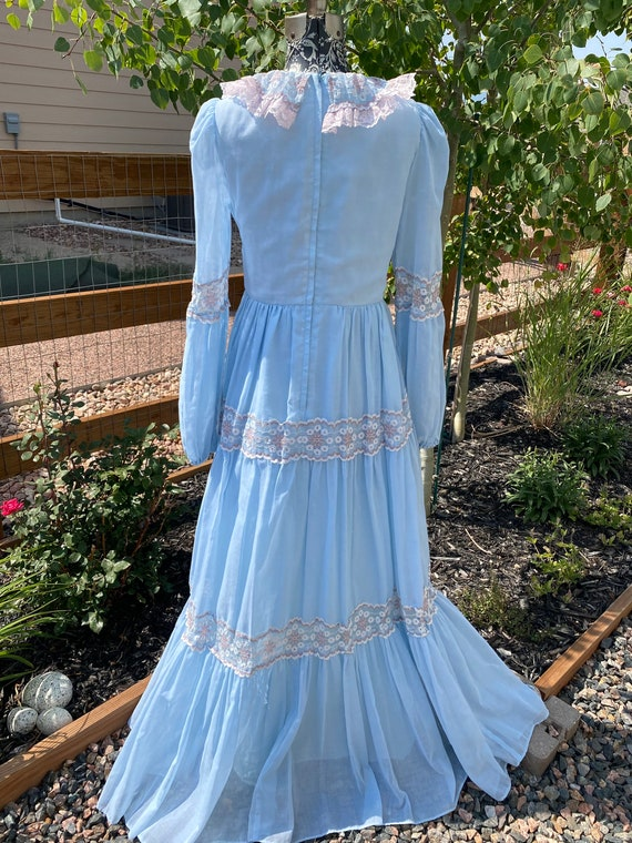 Vintage Gunne Sax Corset Maxi Dress - image 2