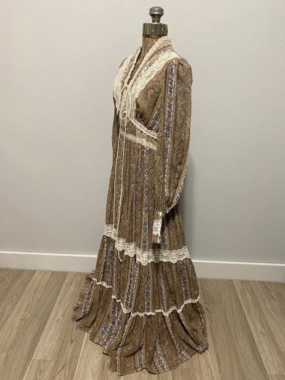 Vintage Gunne Sax Paisley Cottagecore dress - image 6