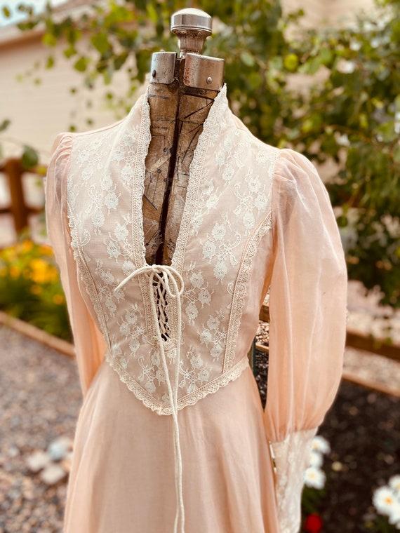 Gunne Sax Prairie Dress 1970's - image 4