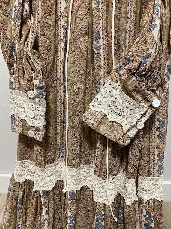 Vintage Gunne Sax Paisley Cottagecore dress - image 9