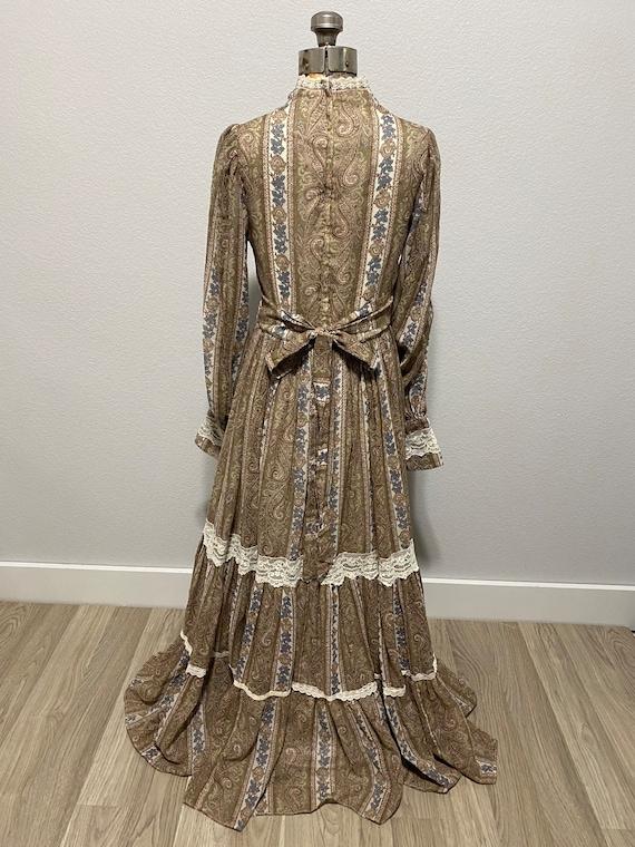 Vintage Gunne Sax Paisley Cottagecore dress - image 8
